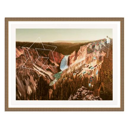 Mary Iverson Art Print - 8 of 20 - Yellowstone Falls - Hand-Embellished Edition
