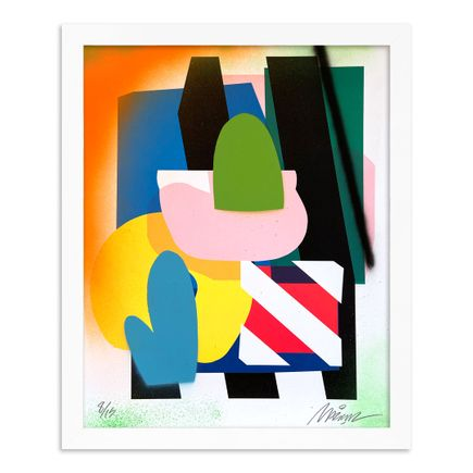 Maser Art Print - 8 of 15 - Stacked Forms 002 - Hand-Embellished Edition