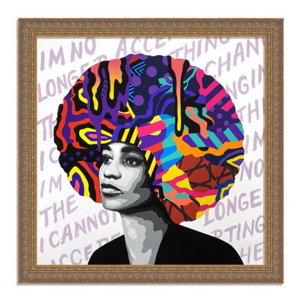 Dina Saadi Art Print - Angela - I Am No Longer Accepting - I