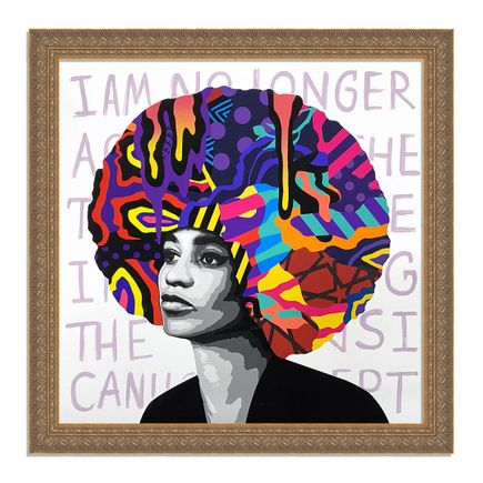 Dina Saadi Art Print - Angela - I Am No Longer Accepting - II