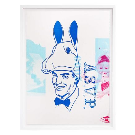ASVP Art Print - Donkey Head & Space Baby - Blue & Red Edition