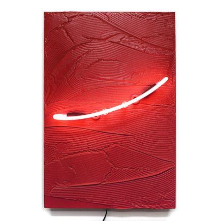 Erik Otto Original Art - Currents (Crimson) - Original Artwork