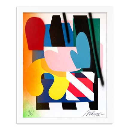 Maser Art Print - 9 of 15 - Stacked Forms 002 - Hand-Embellished Edition