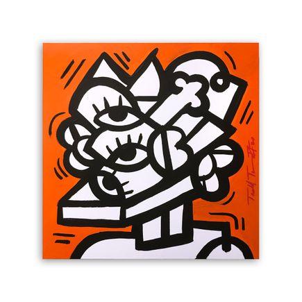Sheefy Original Art - Pumpkin Study - 16 x 16 Inches - Original Artwork