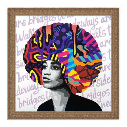 Dina Saadi Art Print - Angela - Walls Turned Sideways Are Bridges - I