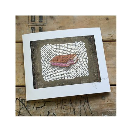 bachor Art Print - Strawberry Sandwich - 8 x 10 Inches - Open Edition Prints