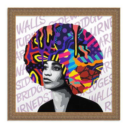 Dina Saadi Art Print - Angela - Walls Turned Sideways Are Bridges - II