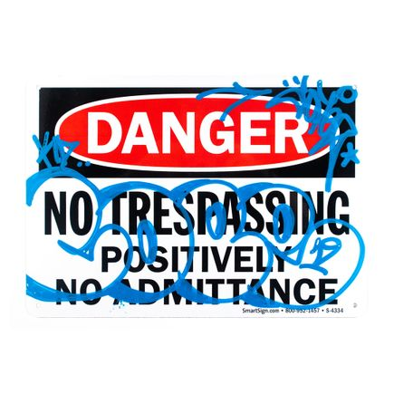 Cope2 Original Art - Danger - No Trespassing - I