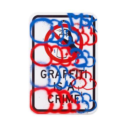 Hael Original Art - Graffiti Is A Crime I - IV - 12 x 18 Inches
