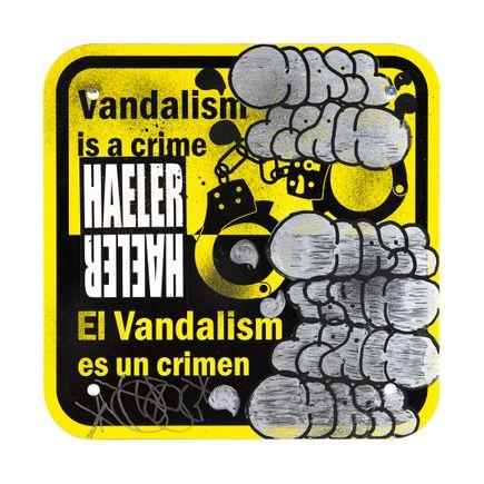 Hael Art Print - Vandalism Is A Crime - V - 12 x 12 Inches