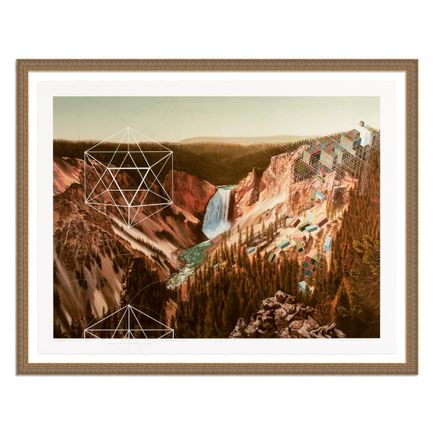 Mary Iverson Art Print - 10 of 20 - Yellowstone Falls - Hand-Embellished Edition