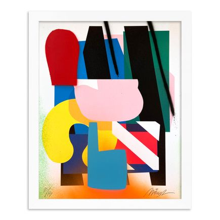 Maser Art Print - 10 of 15 - Stacked Forms 002 - Hand-Embellished Edition