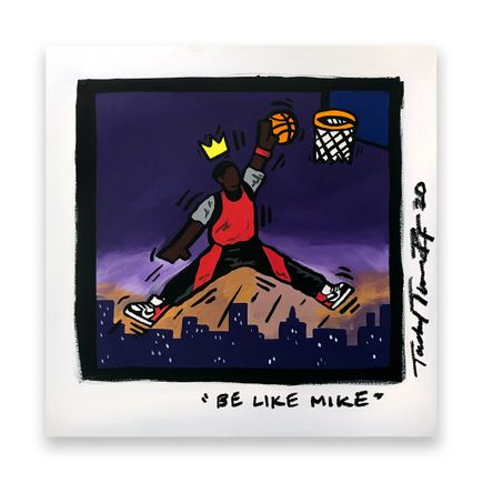 Sheefy Original Art - Be Like Mike - 18 x 18 Inches - Original Artwork