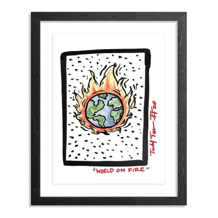 Sheefy Original Art - World On Fire - Original Artwork