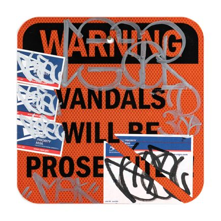 Hael Original Art - Vandals Will Be Prosecuted - II - 12 x 12 Inches