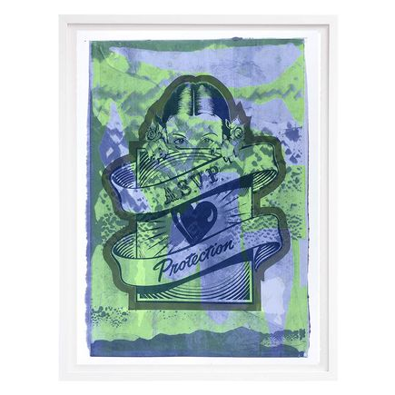 ASVP Art Print - Protection Girl - Green & Blue Edition