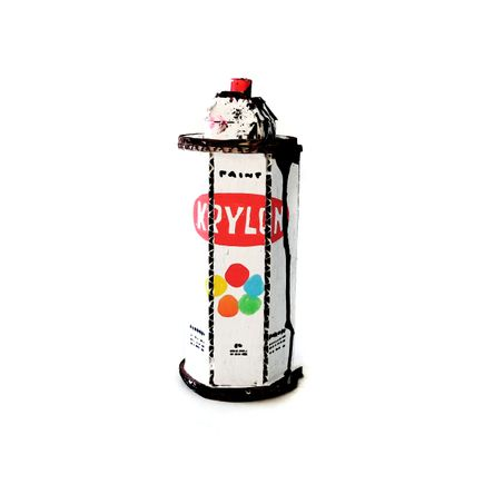 Bill Barminski Original Art - Spray Can - Krylon - Black