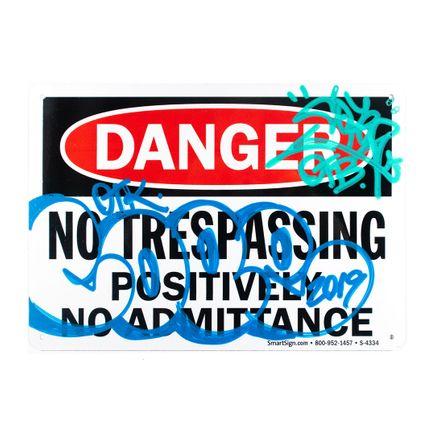 Cope2 Original Art - Danger - No Trespassing - II