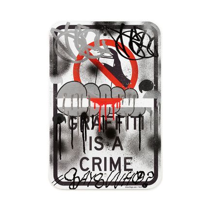 Hael Original Art - Graffiti Is A Crime I - II - 12 x 18 Inches