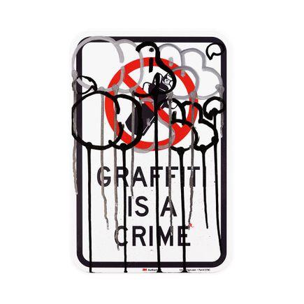 Hael Original Art - Graffiti Is A Crime II - III - 12 x 18 Inches