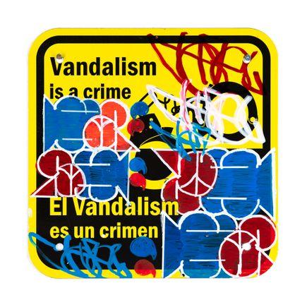 Hael Art Print - Vandalism Is A Crime - VI - 12 x 12 Inches