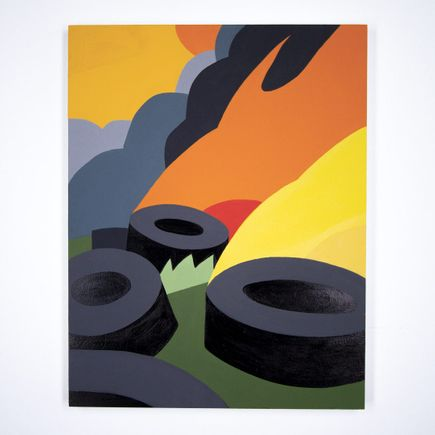 Jesse Kassel Original Art - Original Artwork - Tire Fire