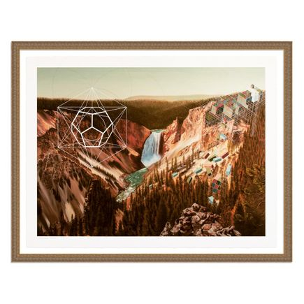 Mary Iverson Art Print - 11 of 20 - Yellowstone Falls - Hand-Embellished Edition