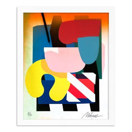 Maser Art Print - 11 of 15 - Stacked Forms 002 - Hand-Embellished Edition