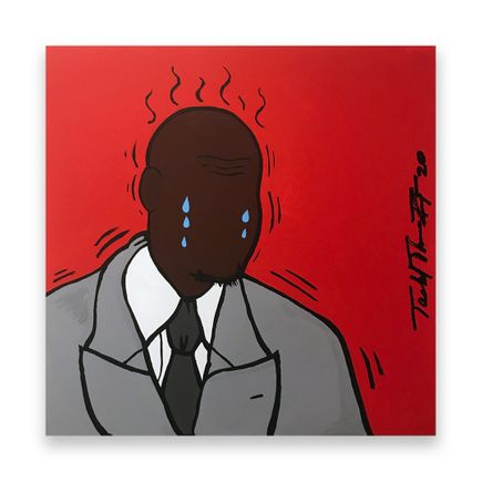 Sheefy Original Art - Crying Mike - 18 x 18 Inches - Original Artwork