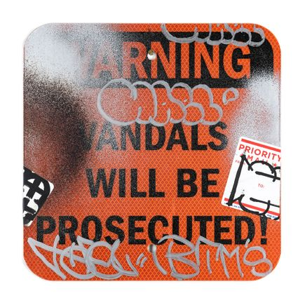 Hael Original Art - Vandals Will Be Prosecuted - III - 12 x 12 Inches