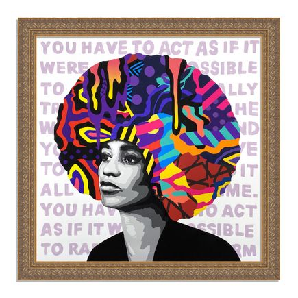 Dina Saadi Art Print - Angela - You Have To Act As If - II