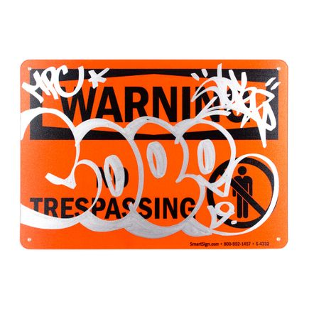 Cope2 Original Art - Warning - No Trespassing - I