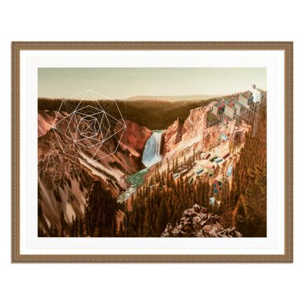 Mary Iverson Art Print - 12 of 20 - Yellowstone Falls - Hand-Embellished Edition