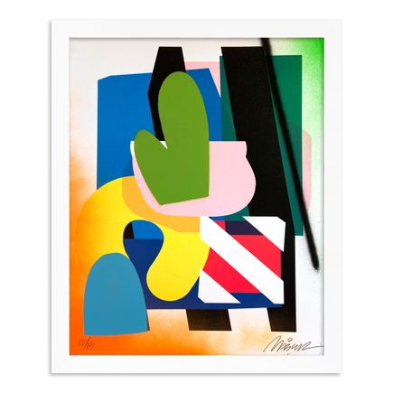 Maser Art Print - 12 of 15 - Stacked Forms 002 - Hand-Embellished Edition