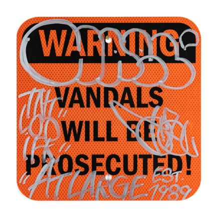 Hael Original Art - Vandals Will Be Prosecuted - IV - 12 x 12 Inches