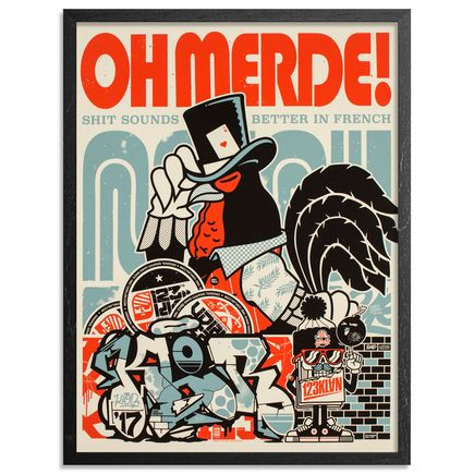 123Klan Art Print - Oh Merde - Limited Edition Prints