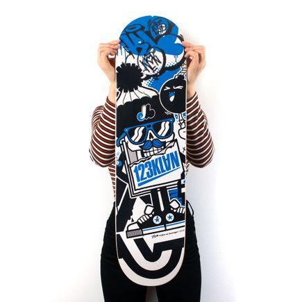 123Klan Art Print - Blue 123Klan - Skate Deck Variant