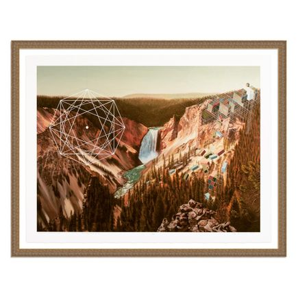Mary Iverson Art Print - 13 of 20 - Yellowstone Falls - Hand-Embellished Edition