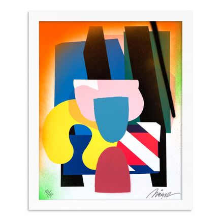 Maser Art Print - 13 of 15 - Stacked Forms 002 - Hand-Embellished Edition