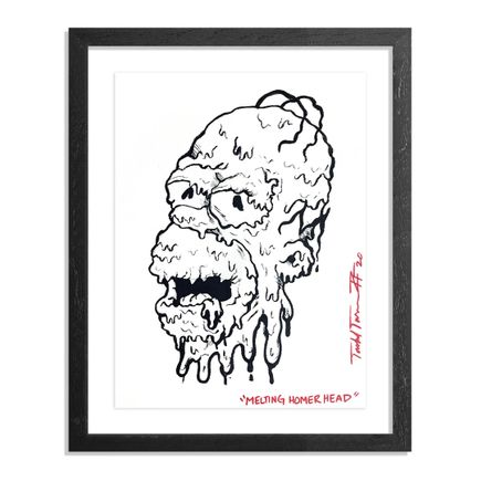 Sheefy Original Art - Melting Homer Head - Original Artwork