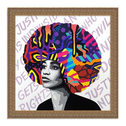 Dina Saadi Art Print - Angela - Justice Is Indivisible - I