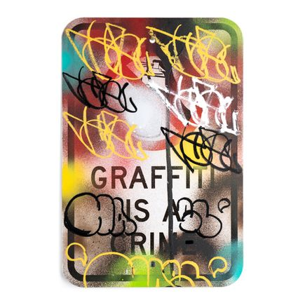 Hael Original Art - Graffiti Is A Crime - Variant 1 - II