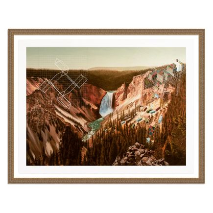 Mary Iverson Art Print - 14 of 20 - Yellowstone Falls - Hand-Embellished Edition