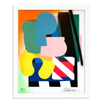 Maser Art Print - 14 of 15 - Stacked Forms 002 - Hand-Embellished Edition