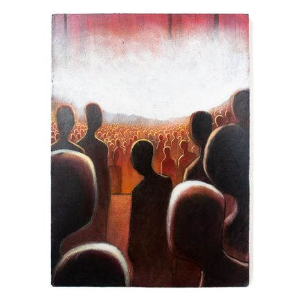 Ron Zakrin Original Art - Crowd Red
