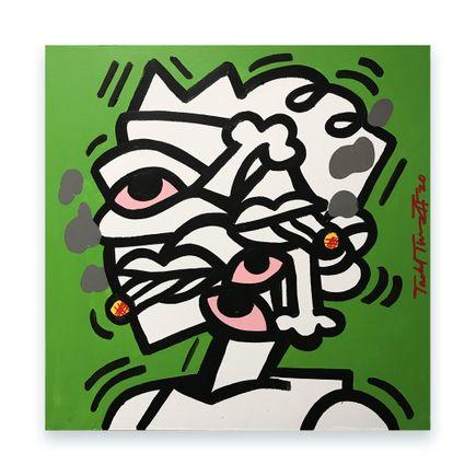 Sheefy Original Art - Light Green Study - 18 x 18 Inches - Original Artwork