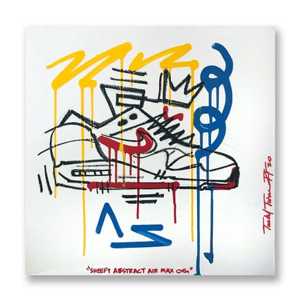 Sheefy Original Art - Sheefy Abstract Air Max OG - 18 x 18 Inch Panel - Original Artwork
