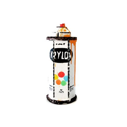 Bill Barminski Original Art - Spray Can - Krylon - Orange