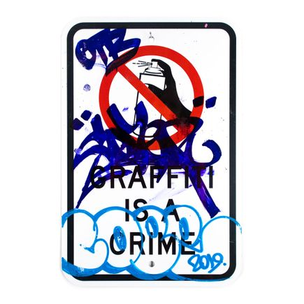 Cope2 Original Art - Graffiti Is A Crime - Variant 1 - V