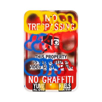 Hael Original Art - No Trespassing No Graffiti - I